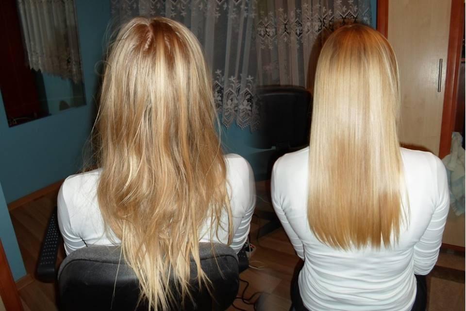 kerartynowe prostowanie włosów Katowice